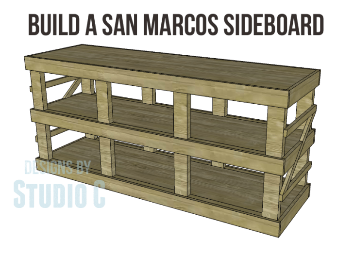 Plans To Build A Napa Style Inspired San Marcos Sideboard