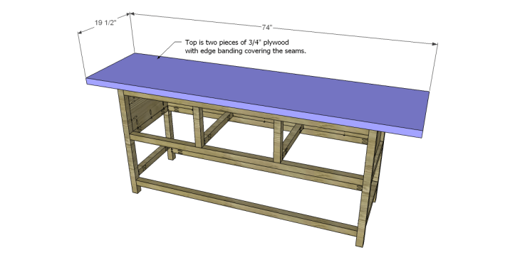 free plans to build a wisteria inspired chinese butcher table_Top