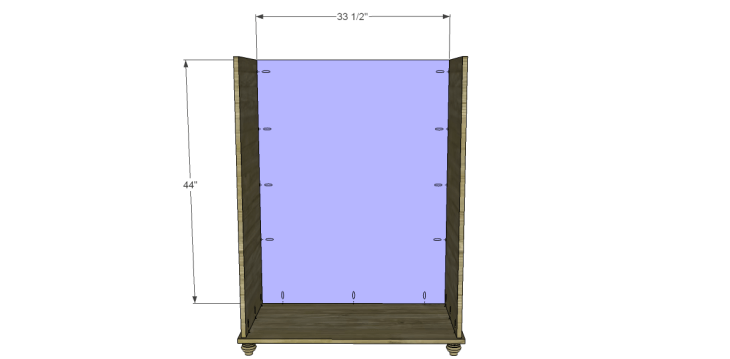 Free Plans to Build a Pier One Inspired Ashworth 5-Drawer Dresser_Back
