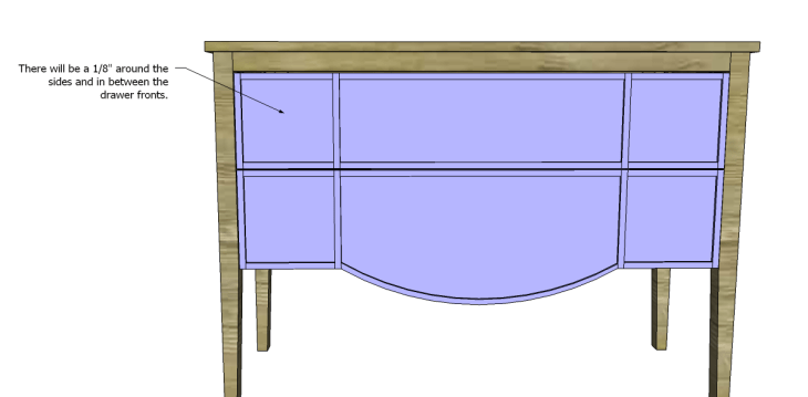 free furniture plans build gustavian console_Drawer Fronts 2