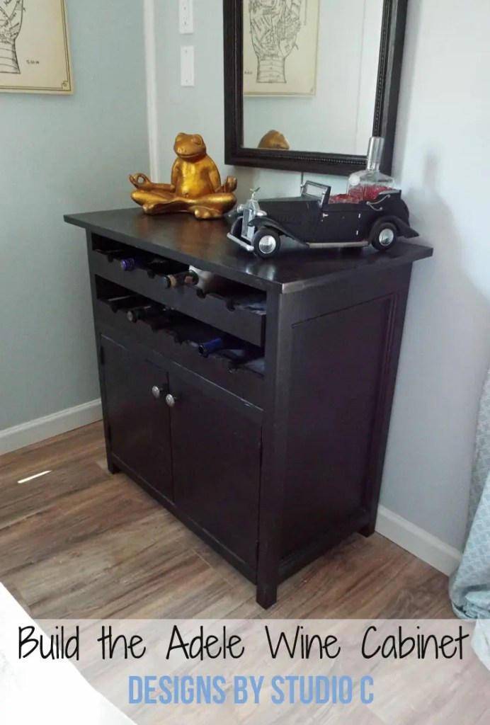 Free Plans to Build a Grandin Road inspired Adele Wine Cabinet - Featured