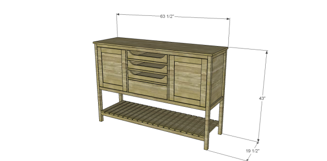 Free Plans to Build a Joss Main Inspired Farmhouse Sideboard