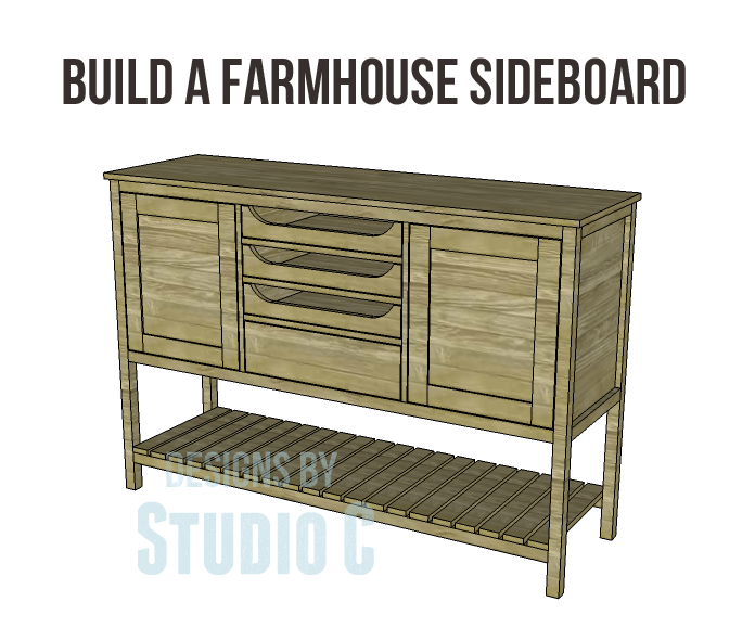 Free Plans to Build a Joss Main Inspired Farmhouse Sideboard_copy