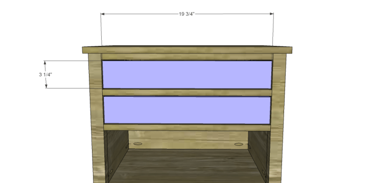 Free Plans to Build a Wisteria Inspired Dreamy Bedside Table_Drawer Fronts