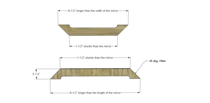 Free Plans to Build a Joss & Main Branford Mirror Frame_Boards