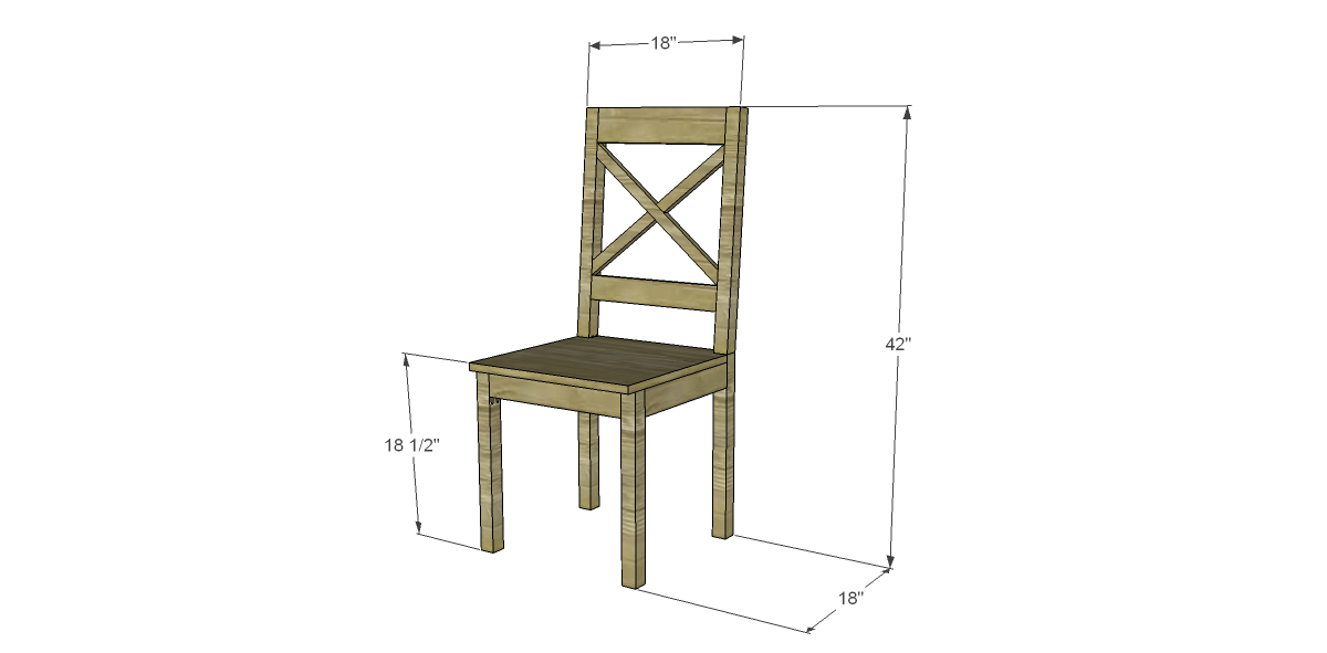 Free plans to build a dining chair 2 designs by studio c for Free dining chair plans