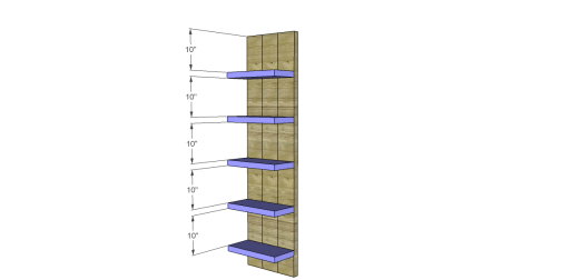 Free Plans to Build a Viva Terra Inspired Elmwood Modular Shelving_Shelves