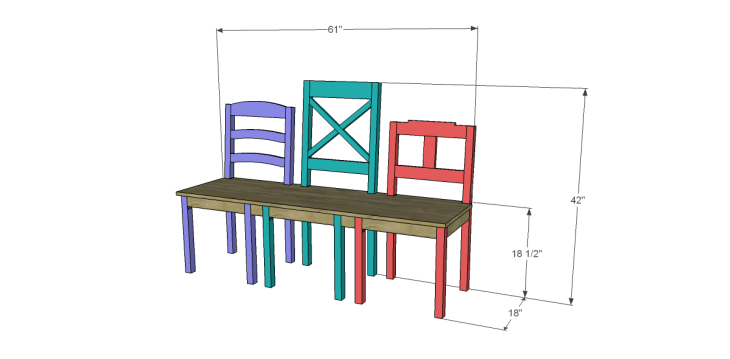 free plans to build a dining chair bench_Bench