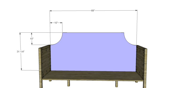 Free Plans to Build a Wisteria Inspired Gustavian Sofa_Back