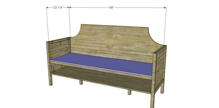 Free Plans to Build a Wisteria Inspired Gustavian Sofa_Seat
