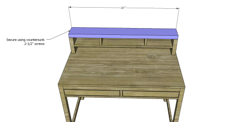 Desk_Hutch Top