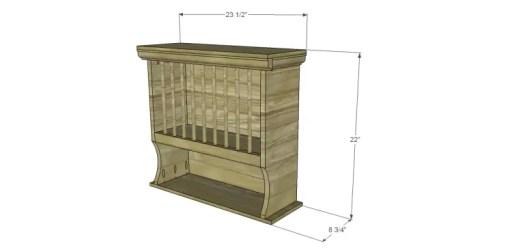 diy plate organizer Cabinet