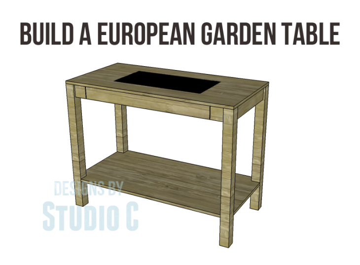 Free Plans to Build a Napa Style Inspired European Garden Table_Copy