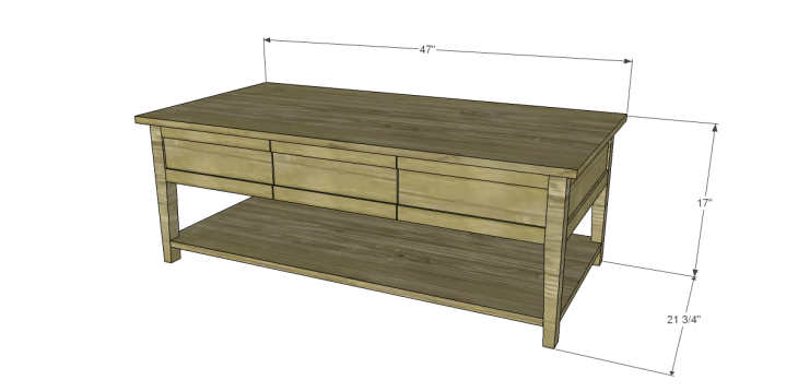 free plans to build a joss main inspired banyan coffee table
