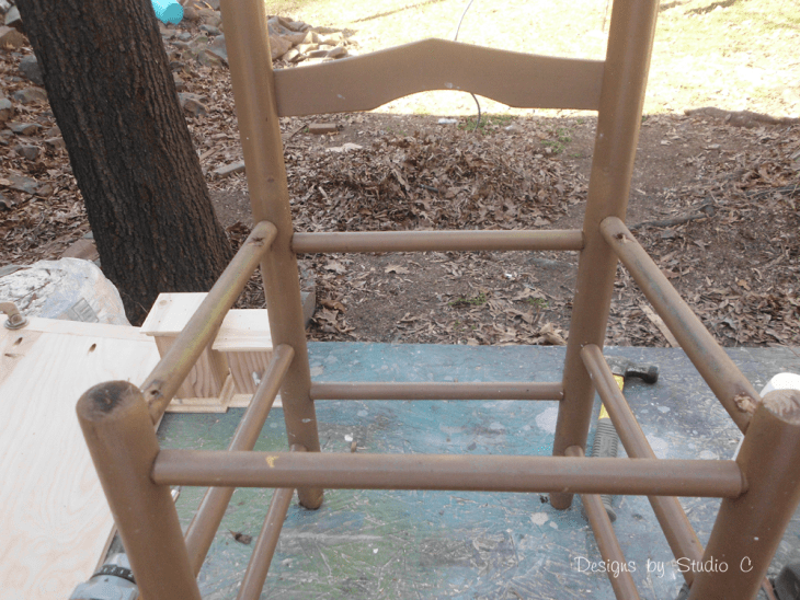 How to Make a Planter using an Old Wooden Chair_Seat Removed