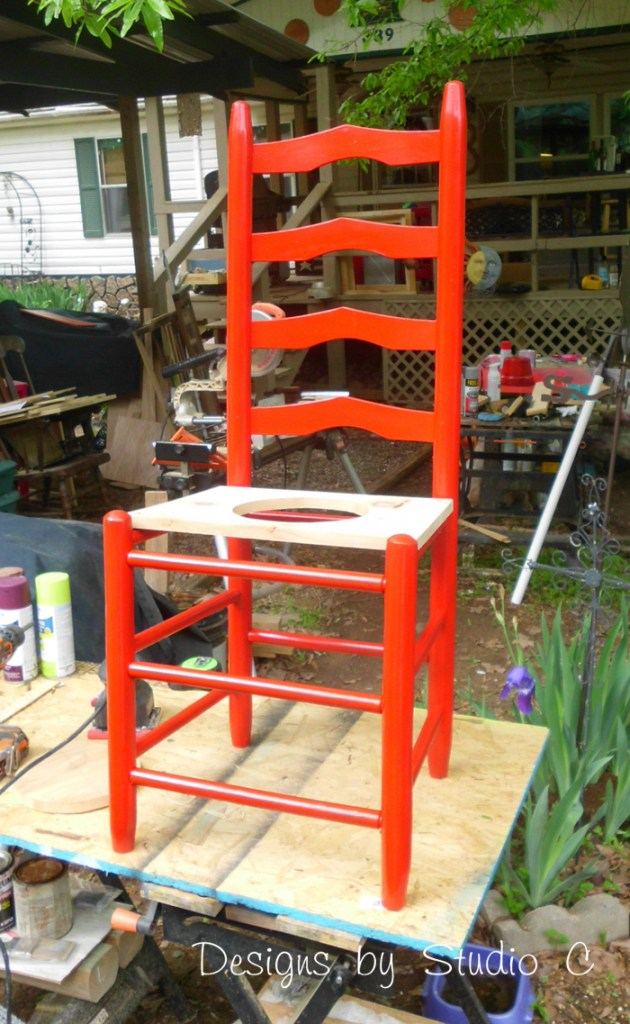 How to Make a Planter using an Old Wooden Chair_Completed