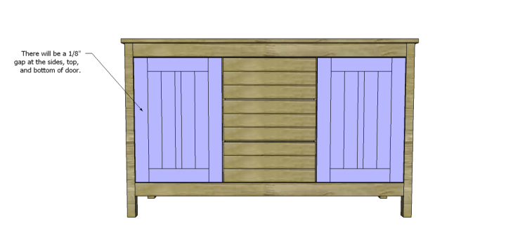 free plans to build a world market inspired garner sideboard_Doors 2
