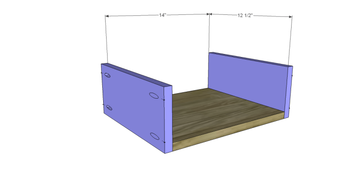 free plans to build a world market inspired garner sideboard_Drawer BS