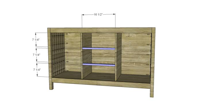 free plans to build a world market inspired garner sideboard_Drawer Dividers