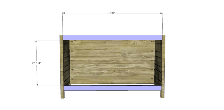 free plans to build a world market inspired garner sideboard_Front Aprons