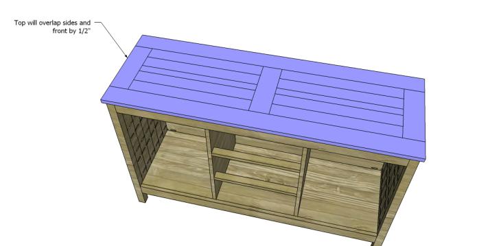 free plans to build a world market inspired garner sideboard_Top 2