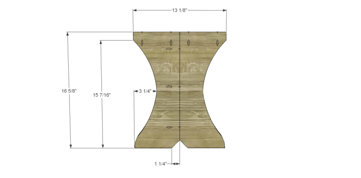 free plans to build a curvy bench_Leg