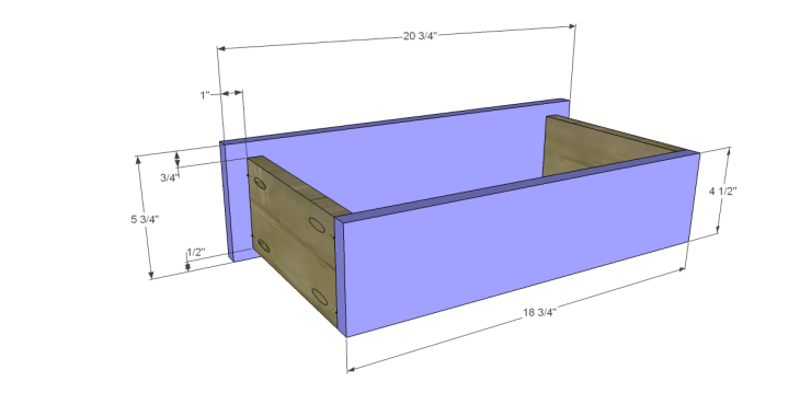 free plans to build a joss main inspired julius wine table_Drawer FB