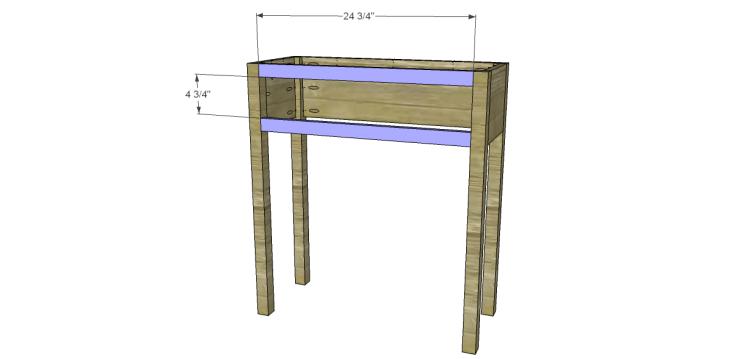 free plans to build a joss main inspired julius wine table_Front Stretchers