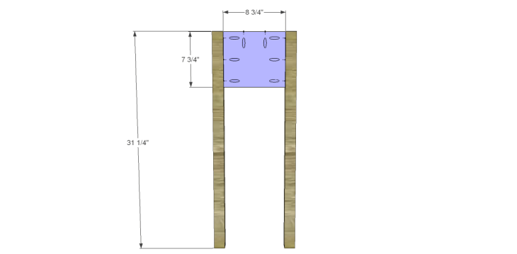 free plans to build a joss main inspired julius wine table_Sides