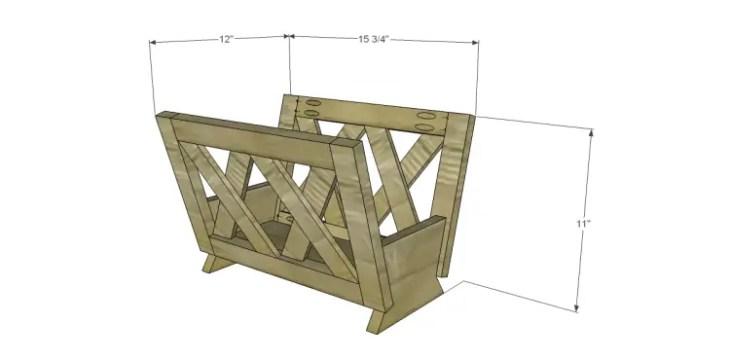 free plans to build a midland magazine rack