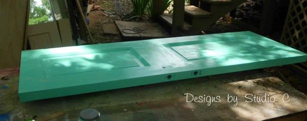 how to build a bench using an old door SANY2237