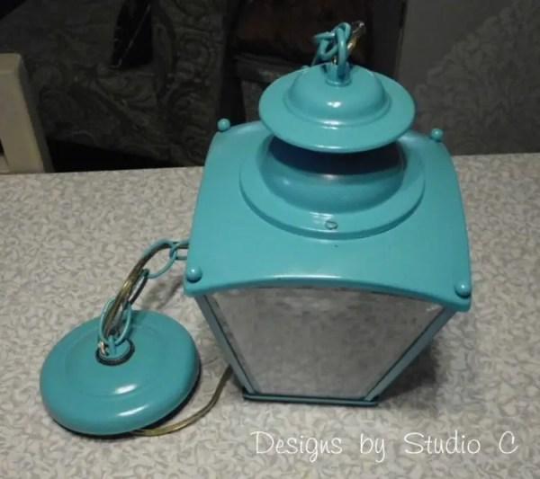 brass light fixture DIY update SANY2346