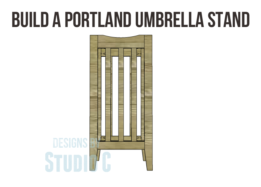 Build a portland umbrella stand designs by studio c for How to build a box stand