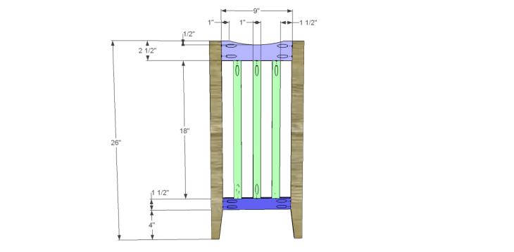 free plans to build a portland umbrella stand_Leg Frame