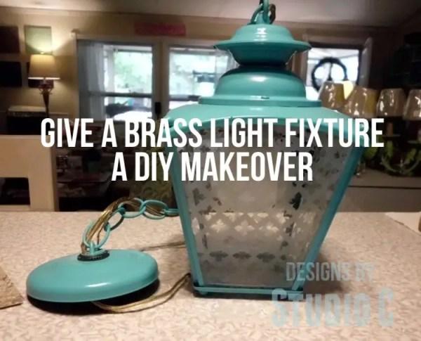 brass light fixture DIY update SANY2343