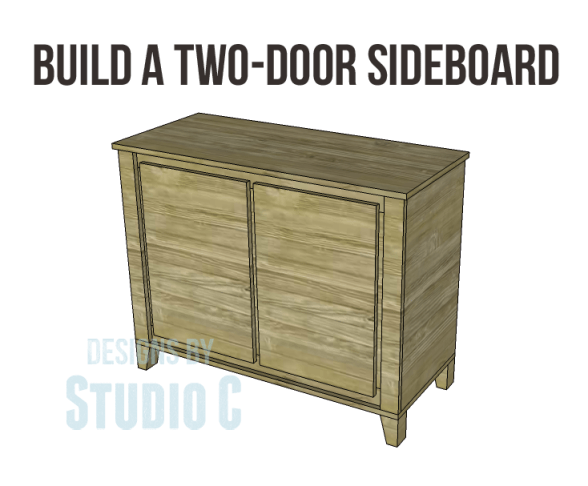 free DIY woodworking plans to build a two door sideboard_Copy