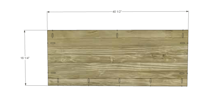 free DIY woodworking plans to build a two door sideboard_Shelf 1