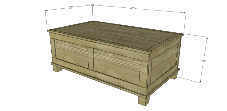 Free DIY Woodworking Plans to Build a Paneled Trunk