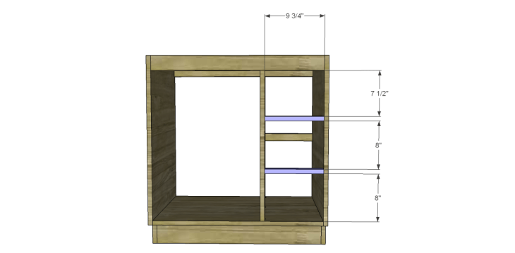 free DIY woodworking plans to build a custom bath vanity_Drawer Stretchers