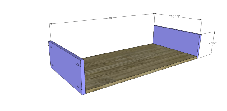 free DIY woodworking plans to build a large armoire_Drawer BS