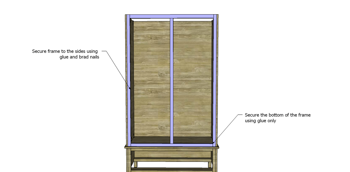 Etonnant ... Free DIY Woodworking Plans To Build A Large Armoire_Front Frame 2