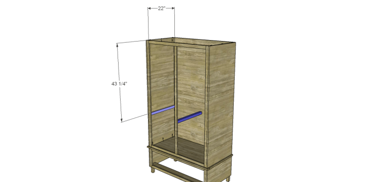 free DIY woodworking plans to build a large armoire_Shelf Supports 1