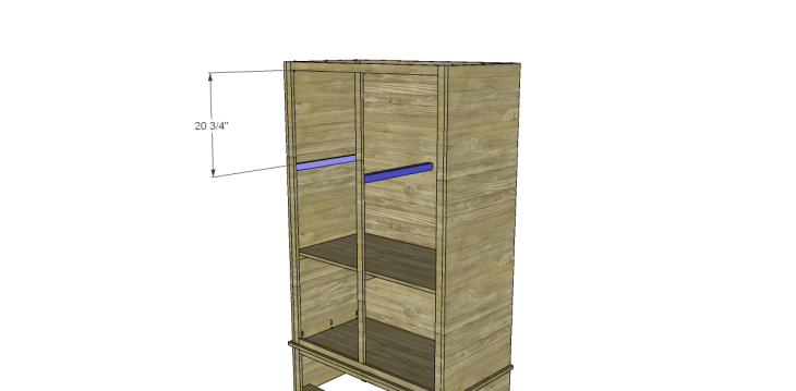 free DIY woodworking plans to build a large armoire_Shelf Supports 2