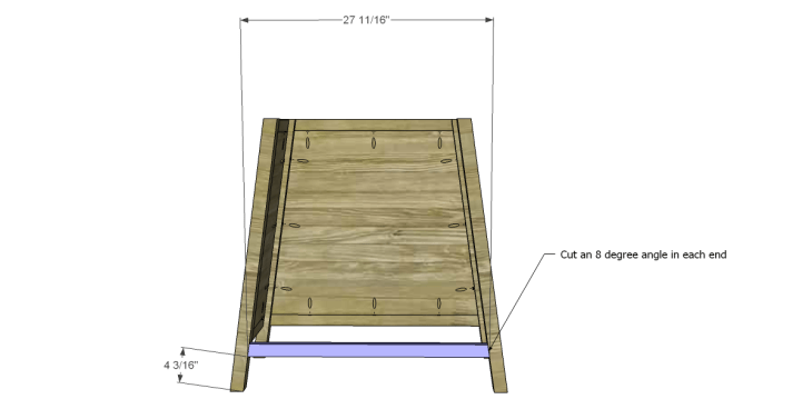 free DIY woodworking plans to build an asian style cabinet _Lower Divider