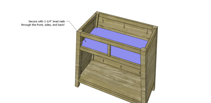 free DIY woodworking plans to build an asian style cabinet _Shelf 2