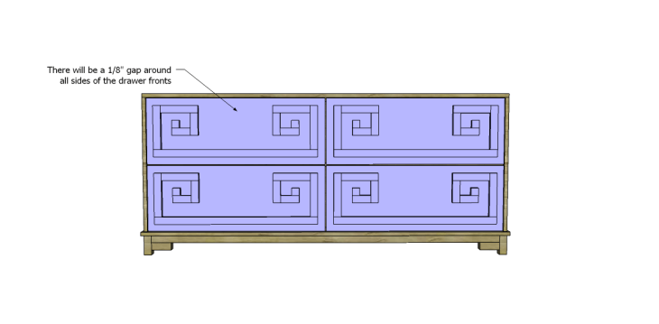 free DIY woodworking plans to build a greek key dresser_Drawer Front 2