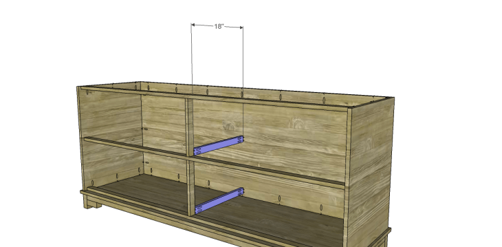 free DIY woodworking plans to build a greek key dresser_Slide Supports