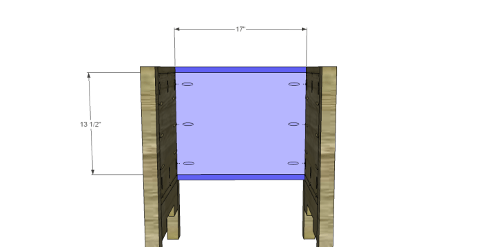 free DIY woodworking plans to build a monterrey side table_Back