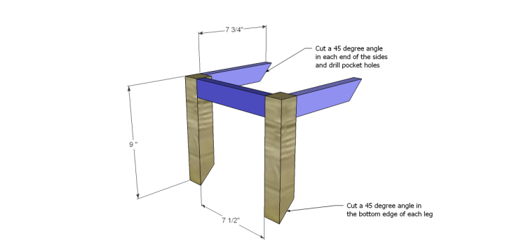 free DIY woodworking plans to build a ladder end table_Frames 1