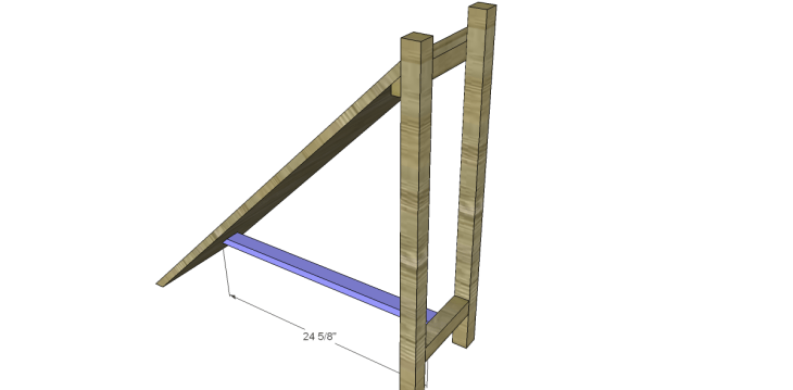 free DIY woodworking plans to build a ladder end table_Shelf Stretcher